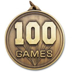 Medal - 100 Games Rectangle Series