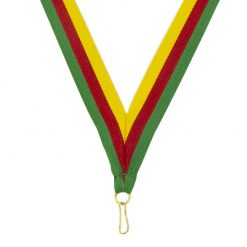 Neck Ribbon - Green/Red/Gold