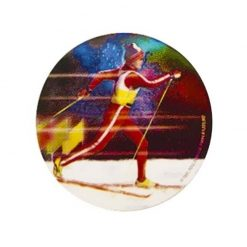 Skiing Cross Country - Holographic Mylar 50mm