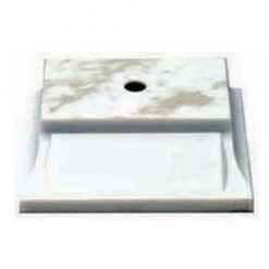 Plastic Base - 1 Hole - White
