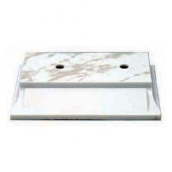 Plastic Base - 2 Hole - White