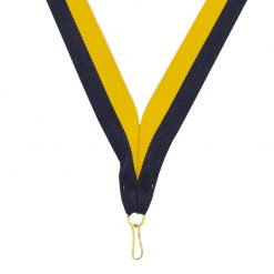 Neck Ribbon - Dark Blue/Gold
