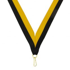 Neck Ribbon - Black/Gold
