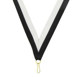 Neck Ribbon - Black/White