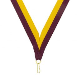 Neck Ribbon - Maroon/Gold