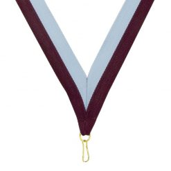 Neck Ribbon - Maroon/Light Blue
