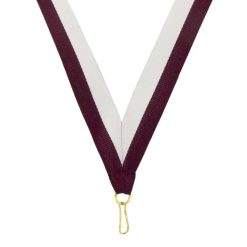 Neck Ribbon - Maroon/White