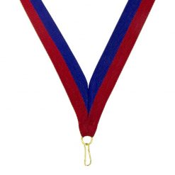 Neck Ribbon - Red/Blue