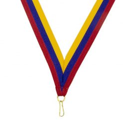 Neck Ribbon - Red/Blue/Gold