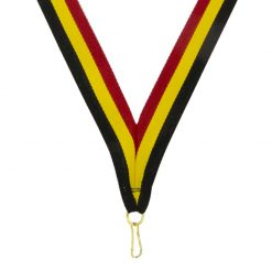 Neck Ribbon - Red/Gold/Black