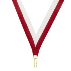 Neck Ribbon - Red/White