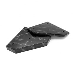 3 Post Set Black Marble Large
