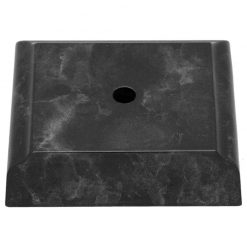 Timber Base - 1 Hole Black Marble Effect