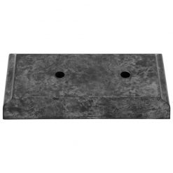 Timber Base - 2 Hole Black Marble Effect