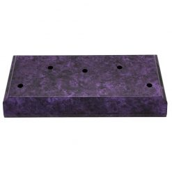 Timber Base - 5 Hole Purple Marble Effect