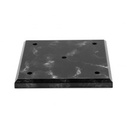 4 Post Set Lid Black Marble Large