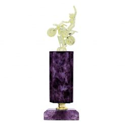 Motorsports Motocross Figure Gold Timber Award Purple Marble