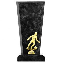 Soccer Male Figure Gold Timber Award Black Marble