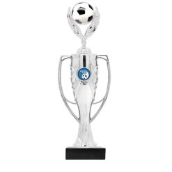 Soccer Holder Figure Cup Award Silver