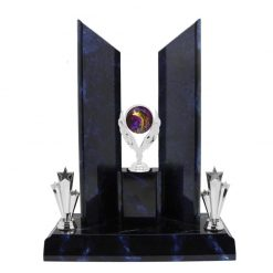 Fishing Silver Holder Perpetual Award Blue Marble