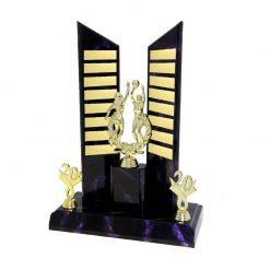 Netball Double Gold Figure Perpetual Purple Marble