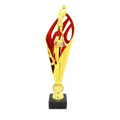 Netball Gold Figure Cup Award Red