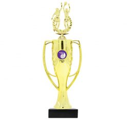 Netball Double Gold Figure Cup Award Gold